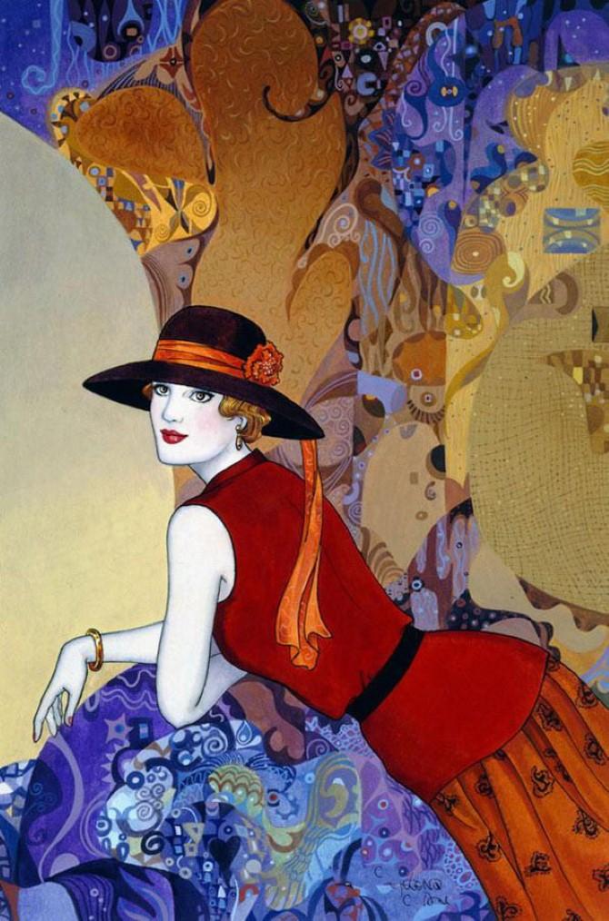 Helen Lam. Картины в стиле ар-деко 22