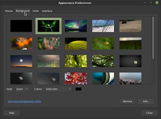 Mengganti Background di Linux Mint