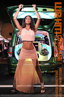 Alona Boulton in see-through chiffon dress as the Boulton Girls at HIN LA 2015