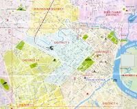 Mapa ciudad Ho Chi Ming, Vietnam