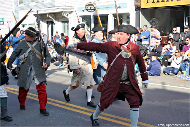 Trofeo Vince Lombardi en el Desfile de Acción de Gracias de Plymouth