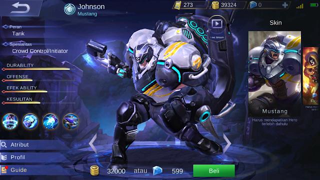 Johnson Mobile Legends Yang Sudah Rework, Jadi Greget!