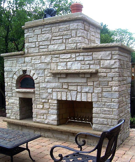 Brick Outdoor Kitchen: Home Products: Stainless Steel Shelf, Chicago Brick Pizza
