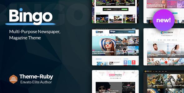 Bingo - Multi-Purpose Newspaper & Magazine Theme Nulled Free Download