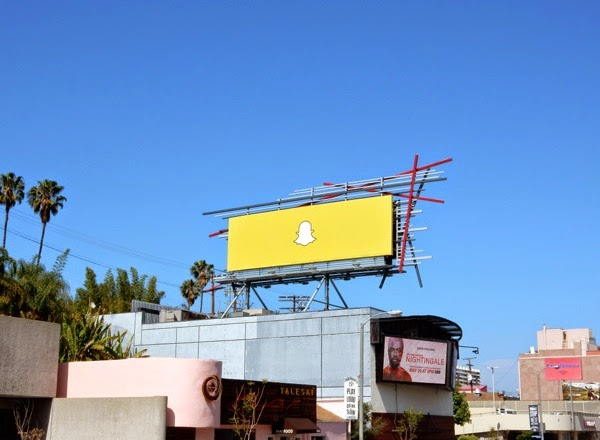 Snapchat billboard Sunset Strip