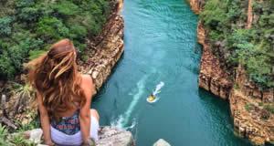 Pedreira Lagoa Azul e o Capitólio - Minas Gerais