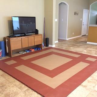 Greatmats staylock orange peel plastic tile exercise area