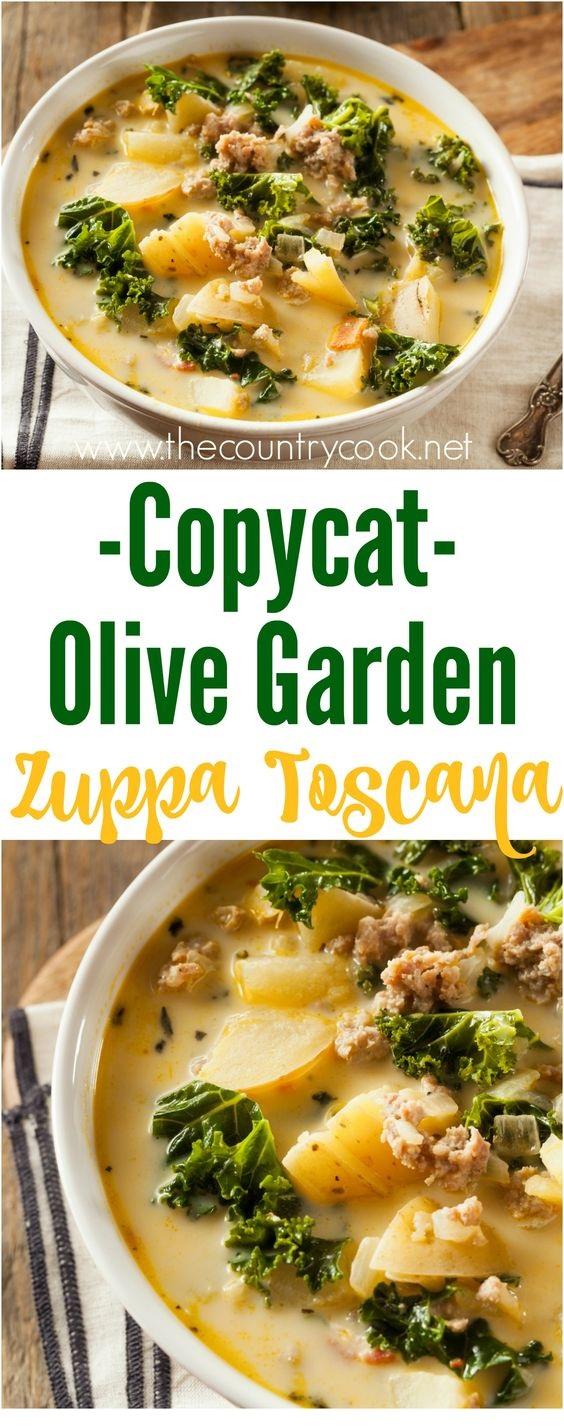 Copycat Olive Garden Zuppa Toscana