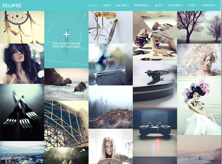 eClipse Photo Portfolio WordPress Theme