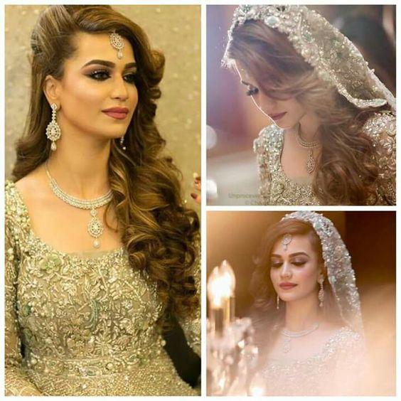Engagement Hairstyles Pakistani: Stylish And Trendy Pakistani Bridal Wedding Hairstyles For