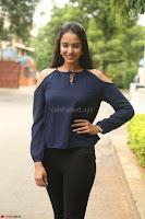 Poojita Super Cute Smile in Blue Top black Trousers at Darsakudu press meet ~ Celebrities Galleries 037.JPG