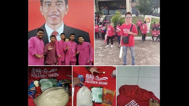 Warganet Riau: Terimakasih Pak Jokowi Sembakonya, tapi Pilihan Tetap Nomer 02