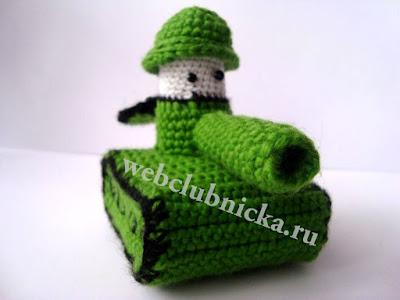 Вязаный танк крючком