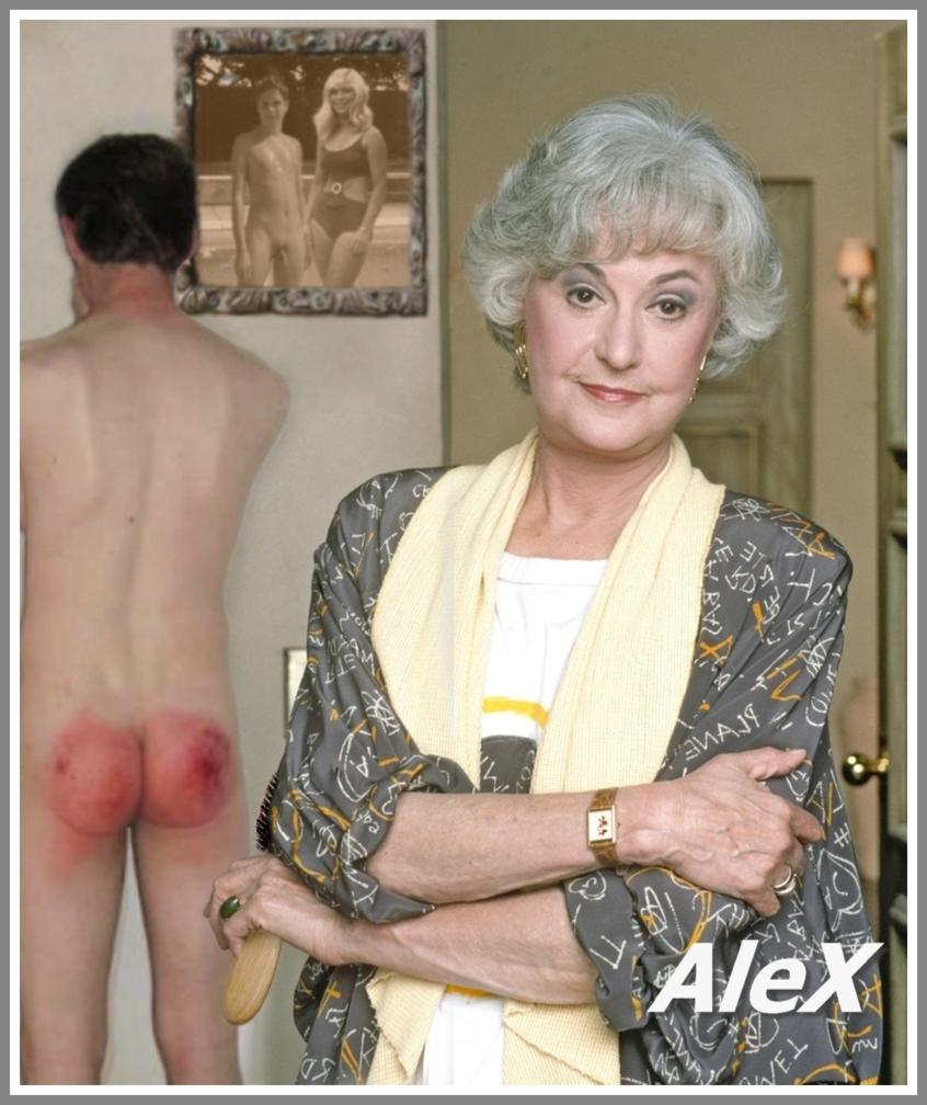 aunt grandmother spank boy
