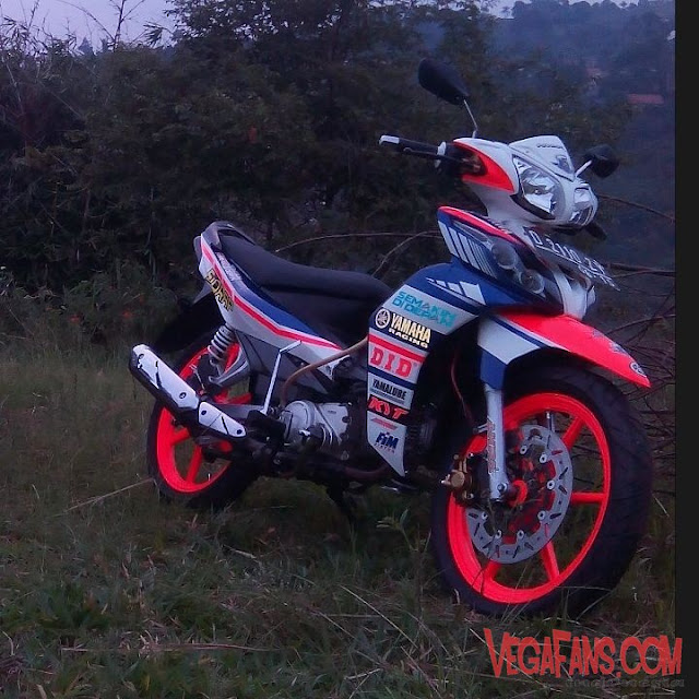 Modifikasi Jupiter Z New Putih Modif Road Race Velg Racing