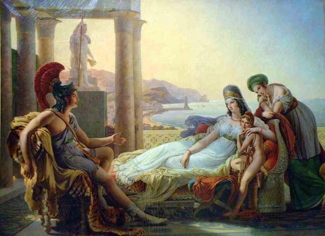 Pierre-Narcisse Guérin - Énée racontant à Didon les malheurs de la ville de Troie