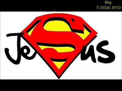 Imagem do Nome JESUS simbolizando o nosso Verdadeiro Herói