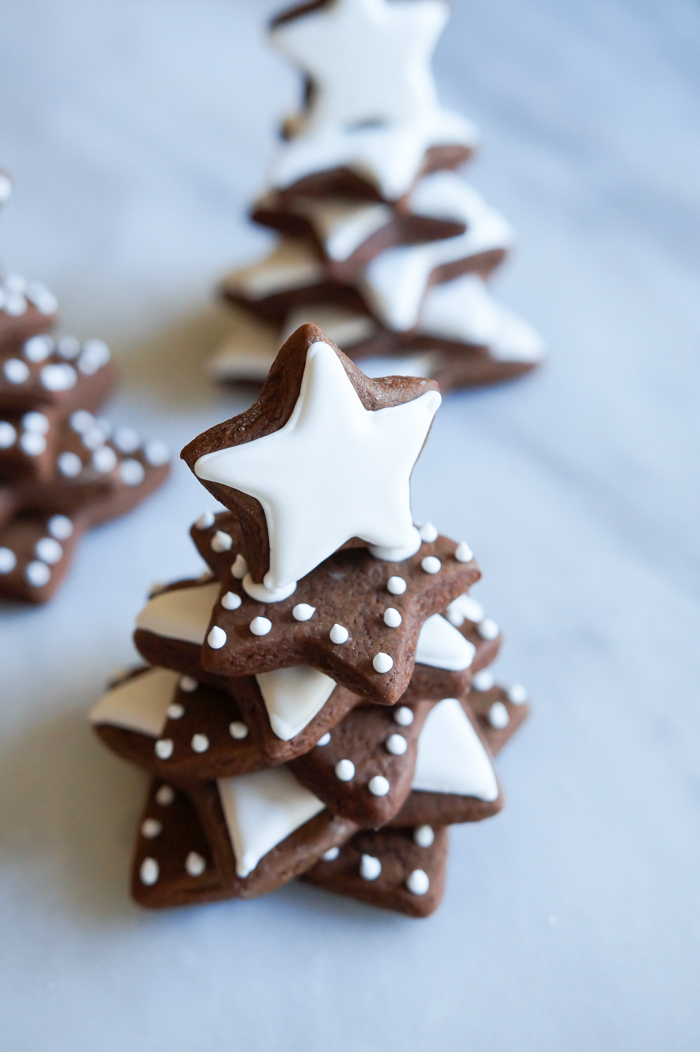 clementine gingerbread cookie trees