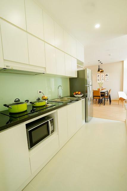Thiết kế phòng bếp của căn hộ 2 ngủ