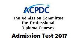 ACPDC Diploma Admission Test 2017