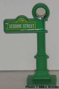 Mikeys muppet memorabilia museum sesame street pvc figures 1974 2010 this small sesame street lamp post was included with one of the many sesame street playsets that have been offered over the years unfortunately it does not aloadofball Choice Image