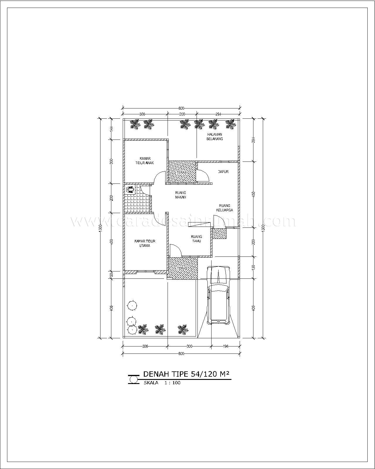 Contoh rumah dengan dapur 1,5 x 3 meter