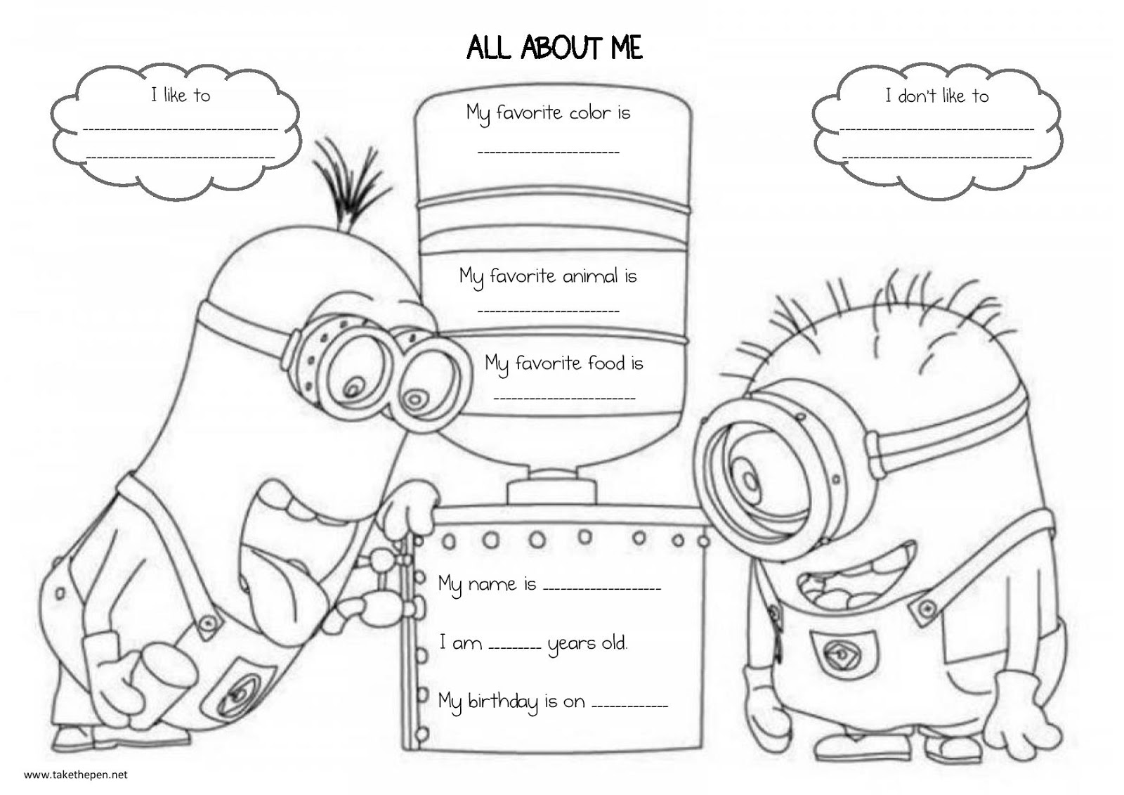 Crush image pertaining to all about me printable worksheet
