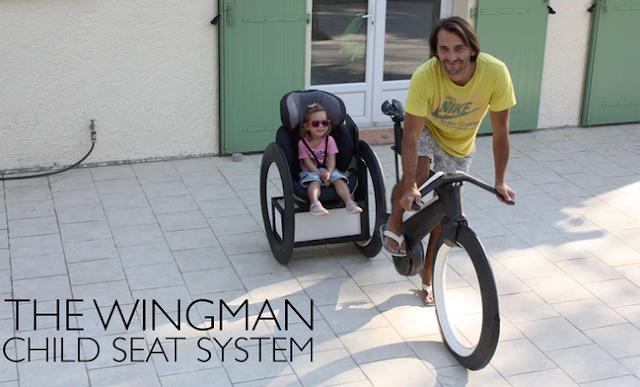 The wingman inovasi sepeda  kursi anak