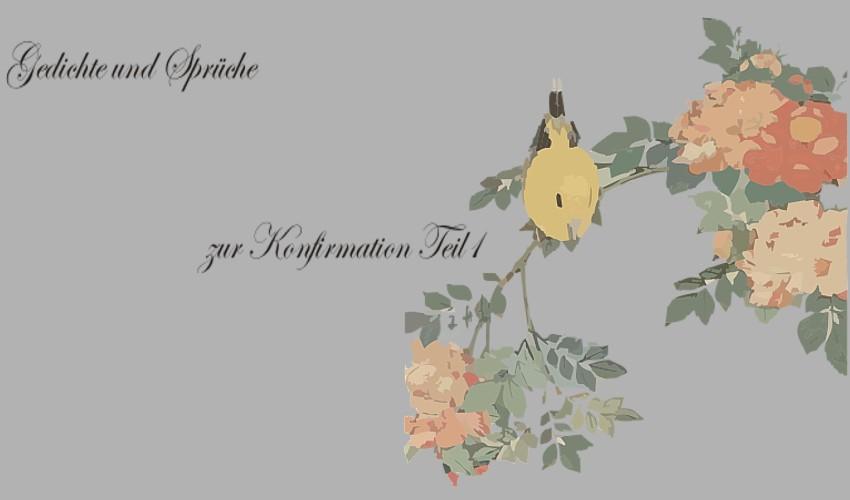 Gedichte Und Zitate Fur Alle Gedichte Zur Konfirmation T 1