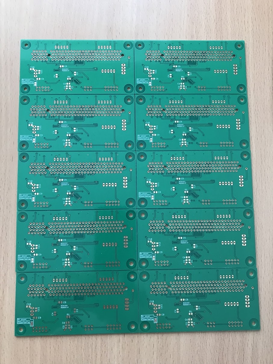 Stevens Blog Fusion Pcb Service Upgraded With Even Lower Pricing Seeed Studio Its Hard To Tell In Those Photos But 3 Of The 10 Boards Have No Solder Mask On Some Vias Here Is A Close Up Top Board Normal Bottom