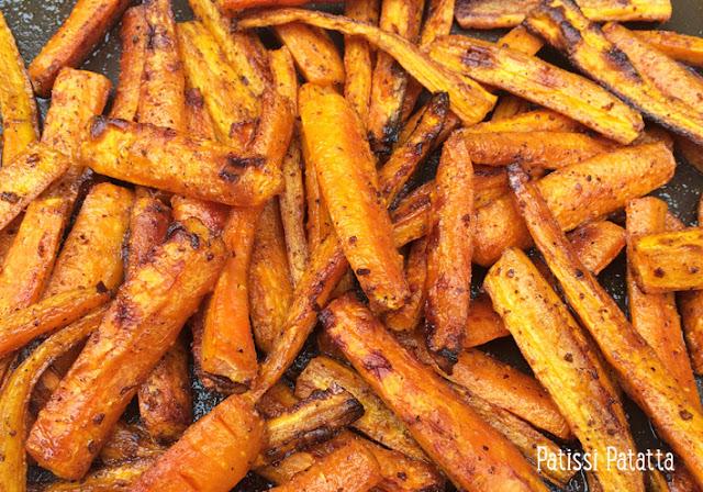 carottes aux épices, recette de carottes au four, recette de Gordon Ramsay, recette de Chef, carottes épicées au four, végétarien, les meilleurs carottes au four, patissi-patatta