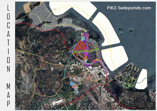 Location Map PIK 2 Jakarta