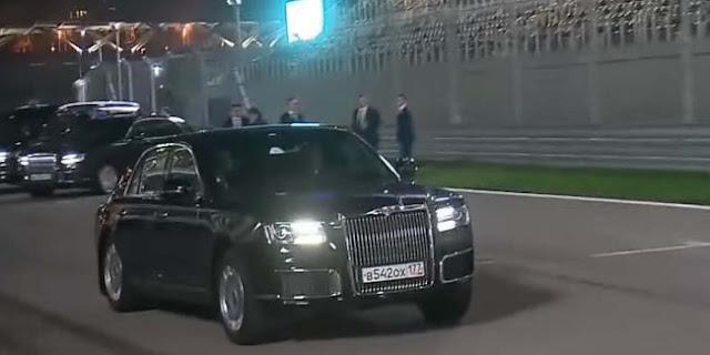 Mantap Jiwa, Vladimir Putin Ajak Presiden Mesir Naik Mobil Aurus di Trek F1