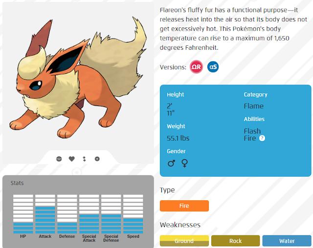 Kehebatan Flareon (c) www.pokemon.com