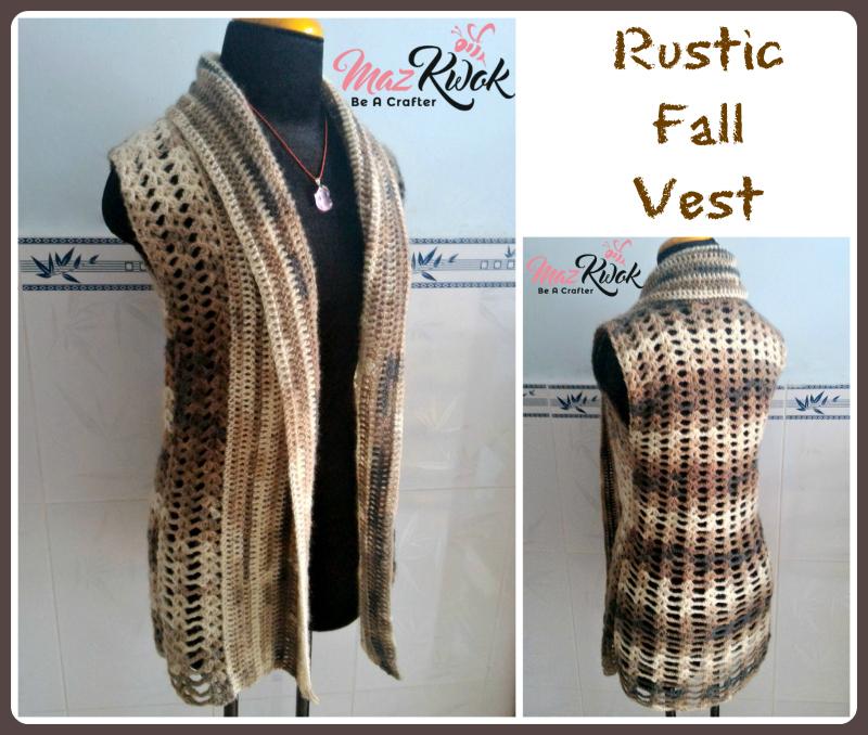 Rustic Fall Vest Free Crochet Pattern