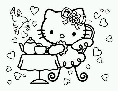 Dibujos de Hello Kitty para Pintar, parte 5 - IMÁGENES PARA WHATSAPP ...