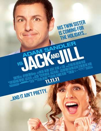 Poster Of Jack and Jill 2011 Dual Audio 110MB BRRip HEVC Mobile ESubs Free Download Watch Online Worldfree4u