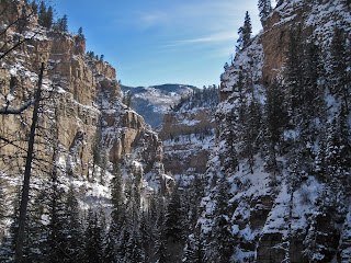 Winter in Glenwood Canyon