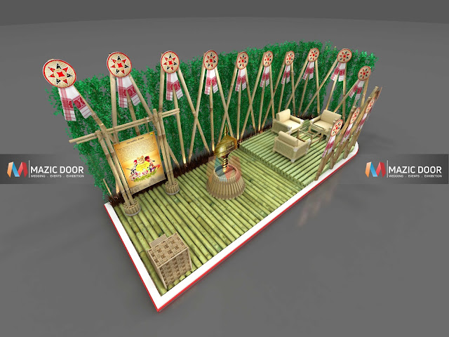 Bamboo Exhibition Stall Design 03