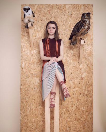 maisie williams beauty model photo instyle uk magazine