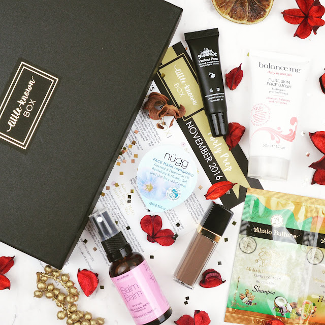 Lovelaughslipstick blog - Little Known Box November 2016 Edit Review
