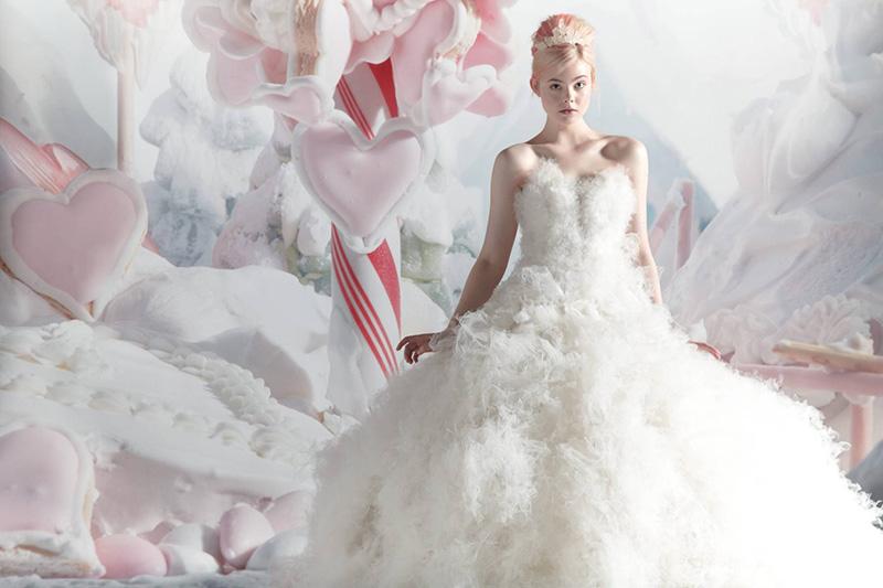 Elle Fanning in Gown by Marchesa