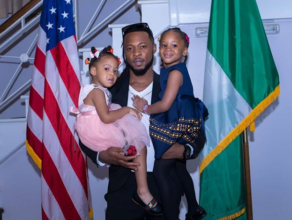 Flavour takes his daughters as his dates to the US Consulate Holiday Party