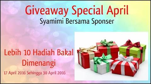 Giveaway Special April Syamimi Bersama Sponser