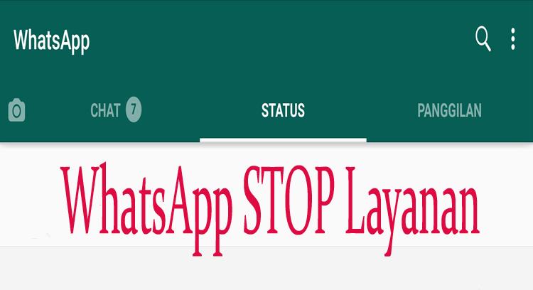 Penghentian layanan whatsapp