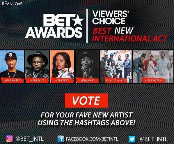 """Falz nominated for BET """"Best New International Act"""" award"""