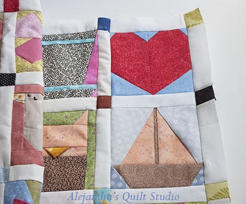 Como hacer una quilt con paper piecing patterns
