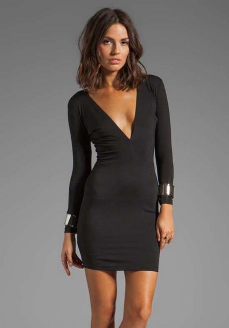 vestido de moda negro