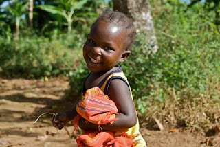 Smiling baby boy in Murwi, Burundi
