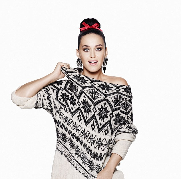 Katy Perry gets festive for the H&M Holiday 2015 Campaign